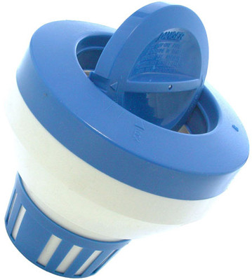 How many tablets can the Pentair - Large Floating Chemical Dispenser,Blue and White hold?